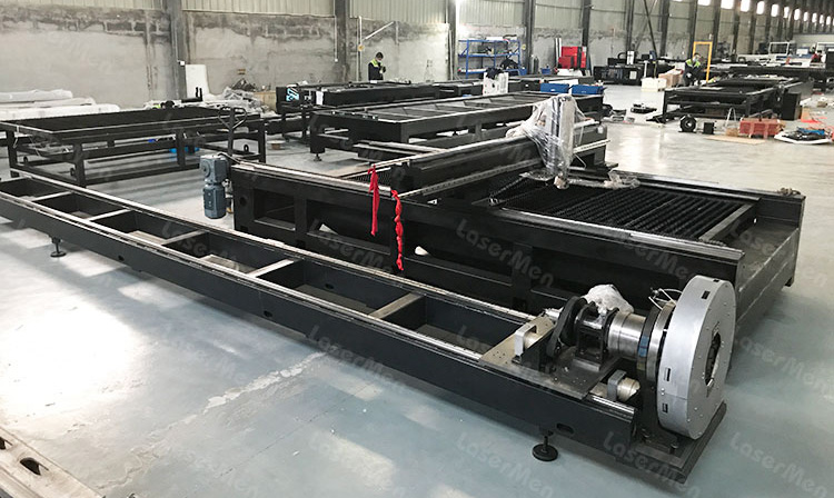 pipe welding bed of metal sheet and tube fiber laser cutting machine