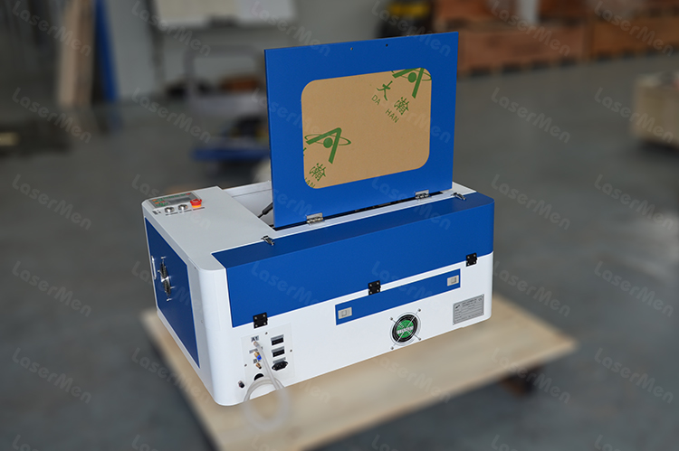 machine view of desktop co2 laser machine