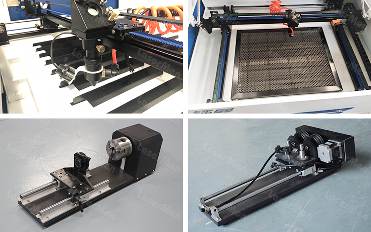 Optional accessories for desktop CO2 laser engraving cutting machine