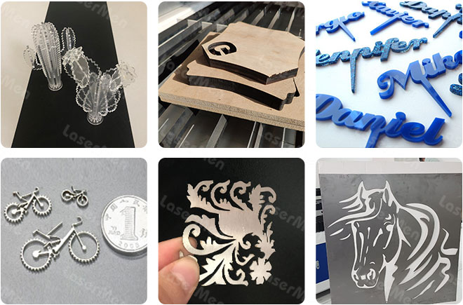 samples of CO2 hybrid mix laser cutting machine